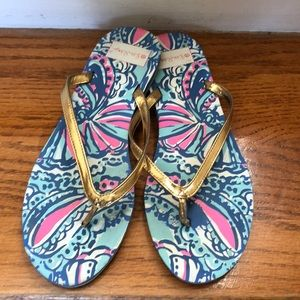 Lilly Pulitzer for Target Flip Flops size 9